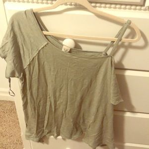 NWT Free people off the shoulder tee